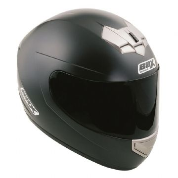 Box BX-1 Full Face Motorcycle Motorbike Scooter Helmet Sharp 4 Star - Matt Black